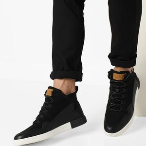 Mid-Top Panelled Sneakers