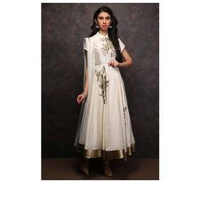 Off White Designer Anarkali Suit by Rohit Bal