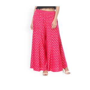 Varanga Women Pink Printed Regular Fit Palazzos