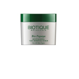 Biotique Bio Papaya Revitalizing Tan-Removal Scrub for All Skin Types, 75g