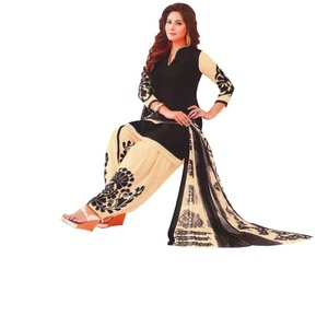 Fashion Valley Crepe Printed Salwar Suit Dupatta Material