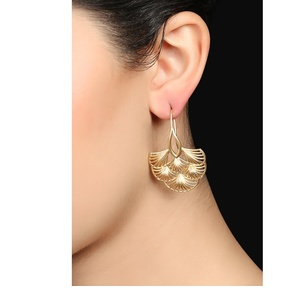 Golden Brass Earrings