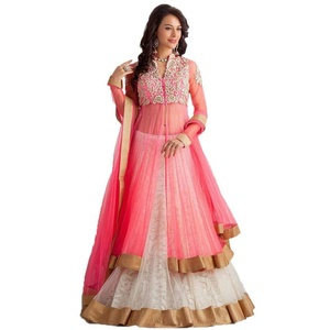 Shopaholic Enterprise Pink And White Net Lehenga