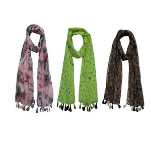 Printed Poly cotton set of three Scarf and Stoles for women