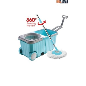 Dreamline Twin Mop Bucket With Wheels - Assorted Colour