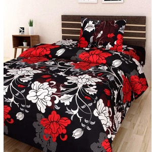 Amayra Home 120 TC Microfibre Single 3D Luxury Bedsheet with 1 Pillow Cover
