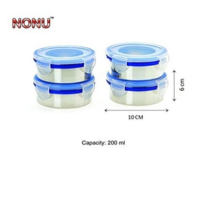 Nonu Stainless Steel Airtight Storage Containers Combo, 350ml, 4-Pc set Assorted colors