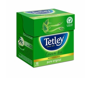 Roll over image to zoom in Tetley Green Tea, Regular, 10 Tea Bags