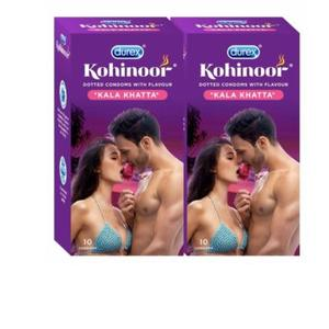 Amazon- Buy Durex Kohinoor Condoms- 10 Count (Pack of 2, Kala Khatta) at Rs 108