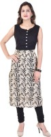 Razio Casual Printed Women's Kurti(Black)