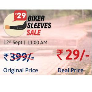 Upcoming: Biker Sleeves Sale at Just Rs.29 Only (Worth Rs.399)