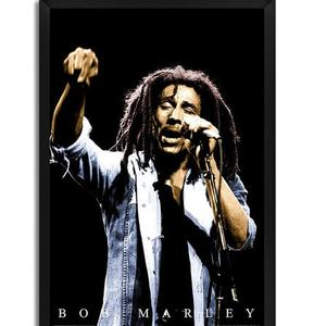 Fibre with Wood Texture 13 x 19 Inch Bob Marley Framed Posters by Bravado