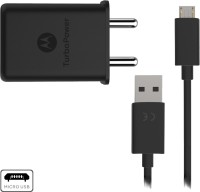 Motorola TurboPower??? 15+ Wall Charger with Micro-USB Data Cable Mobile Charger(Black, Cable Included)