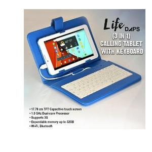 Life DAPS 17.78 cm (7 inch) Dual SIM Calling Tablet With Keyboard