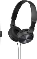 Sony MDR-ZX310APBCE Wired Headset with Mic(Black, Over the Ear)