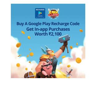 Buy a Google Play Recharge Code on Paytm & Get In-app Purchase worth Rs.2100