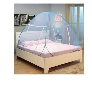 Kawachi Double Bed Polyester & Cotton Blue Folding Mosquito Net