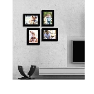 Wall Collage black Fibre Wood Photo Frame by Art Street