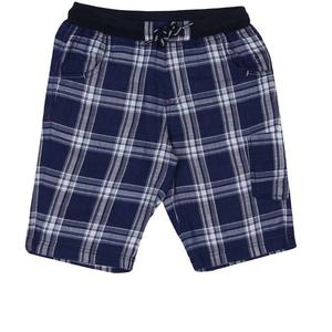 Gini & Jony Short For Boy's Casual Checkered Cotton  (Blue, Pack of 1)