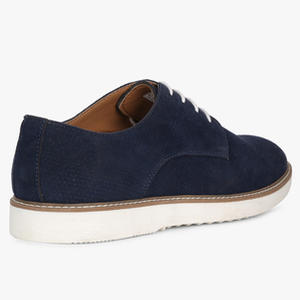 Perforated Lace-Up Casual Shoes