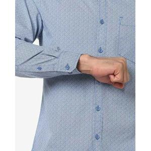 Printed Cotton Shirt with Patch Pocket