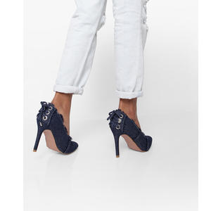 Pointed-Toe Pumps with Frayed Topline