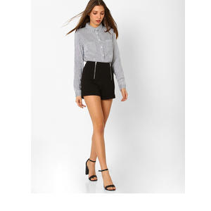 TALLY WEiJL Striped Shirt with Patch Pockets