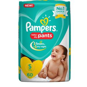 Pampers Pants Diapers - S  (60 Pieces)