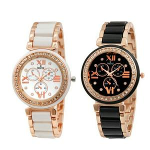Analogue White Dial & Black Dial Womens Watches