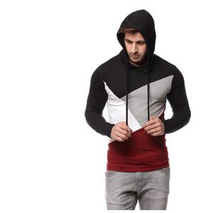 Geum Solid Men Hooded Multicolor T-Shirt