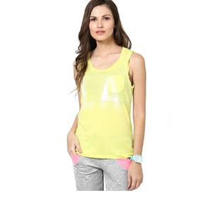 Only Casual Sleeveless Solid Women's Yellow Top