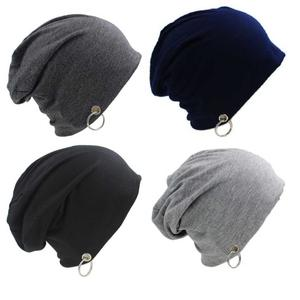 f5dee57f8ea FashMade Solid Slouchy Ring Beanie Cap (Pack of 4)
