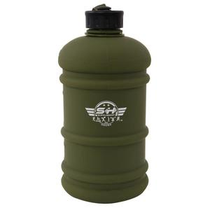 SUPPLEMENT HOUSE IND Large Water Bottle Commando Matt Green Finish with embroidery logo on strap LITRE 2.2 Bottle  (Pack of 1, Green)