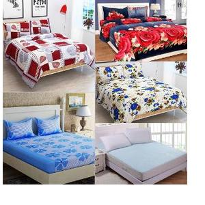 JBG Home Store 13 Pc Double Bed Sheet Set & Mattress Protector Sheet Combo