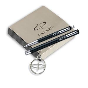 Parker Vector Standard Roller Ball pen +Ball pen Black body with free Parker Key Chain Pen Gift Set#OnlyOnFlipkart