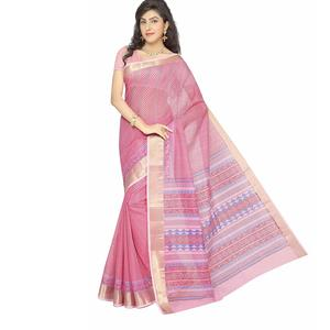 Rani Saahiba Poly Cotton Saree with Blouse Piece