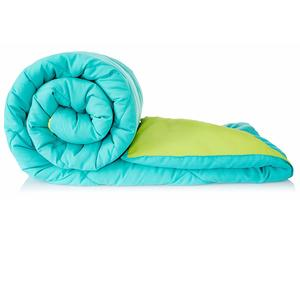 Amazon Brand - Solimo Microfibre Reversible Comforter, Single (Aqua Blue & Olive Green, 200 GSM)