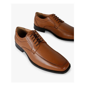 Genuine Leather Panelled Derby Shoes