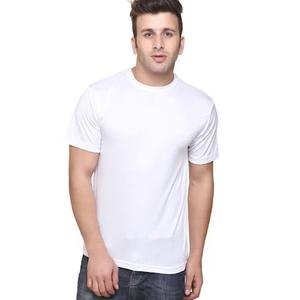 KETEX Men Slim Fit Round Neck Solid T-Shirt - White