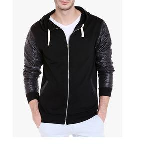 Hooded Jacket with Quilted Sleeves