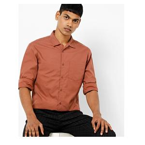 Slim-Fit Shirt with Patch Pocket