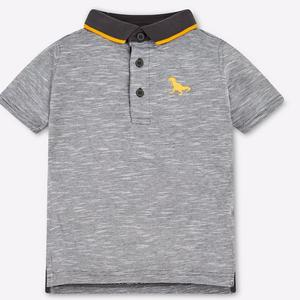 Heathered Polo T-shirt with Vented Hems