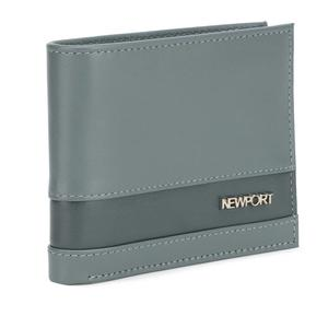 Newport Men Grey Genuine Leather Wallet  (4 Card Slots)#JustHere