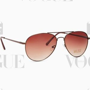 Provogue Aviator Sunglasses  (Brown)