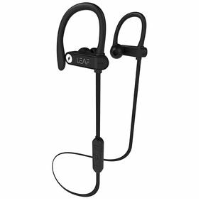 Leaf Sport 2 Wireless Bluetooth Earphone with Mic and Sports Earhook, Bluetooth Headset with 6 Hours Battery Life and Deep Bass(Carbon Black)