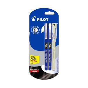 Pilot V7 (2 Blue +1 Black Hi-tech Point 05) Roller Ball Pen  (Pack of 3)