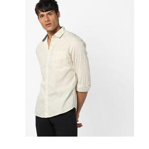 Printed Shirt with Patch Pocket