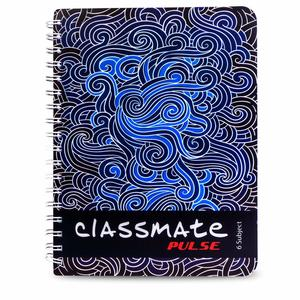 Classmate 2100114 Soft Cover 6 Subject Spiral Binding Notebook, Unruled, 300 Pages
