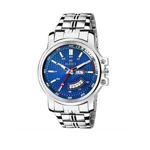Aurex Analog Blue Dial Day and Date Functioning Men's and Boy's Watch (AX-GR109-BLC)