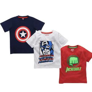 Boys Graphic Print Cotton Blend T Shirt  (Multicolor, Pack of 3)